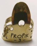 ProPik Extra Comfortable Split Wrap Finger Pick in Brass - Blade #3